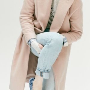 Madewell Blush Atlas Coat